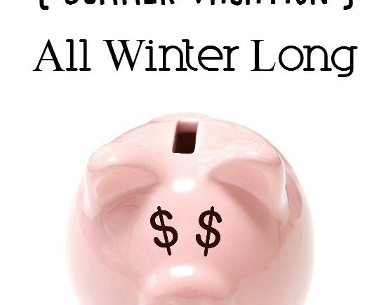 How to Save Up for Vacation all Winter Long- Want to take a vacation next summer and not sure how to make it work? Here's how to save for a trip all winter!