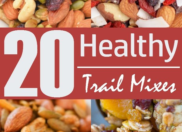 Easy Trail Mix Recipes- Save money and Hit the trails or the road with these 20 easy trail mix recipes that happen to be healthy, too. Make them in minutes!